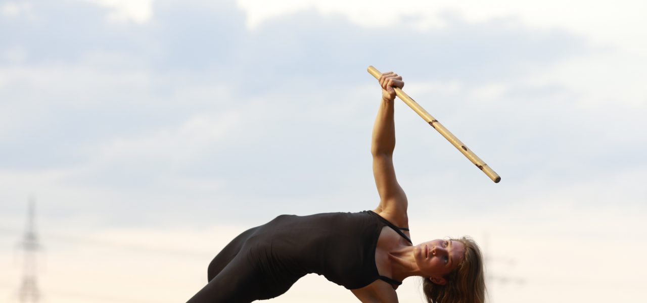 Franzy Deutscher Yoga mit Stock
